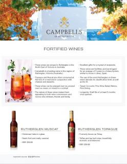 Campbells Dry Reds and Fortifieds Sell Sheet