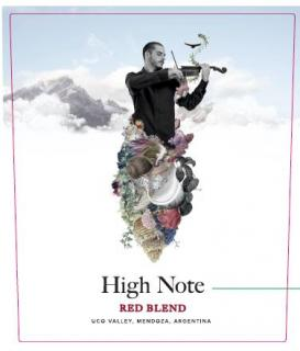 High Note Red Blend Front Label