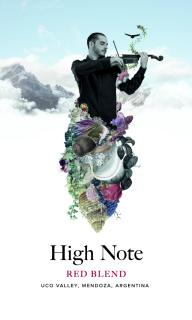 High Note Red Blend Tasting Card
