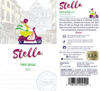 Stella Pinot Grigio IGT 2015 NEW Labels