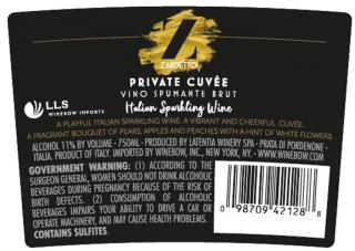 Private Cuvee - Back Label