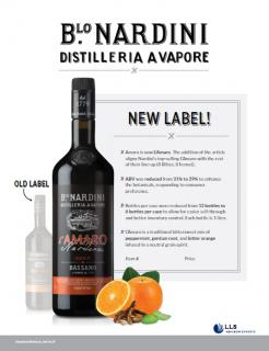 Nardini L'Amaro - Updated Label and Product