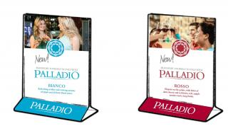 Palladio Table Tents (One Sided Rosso, One Side Bianco)