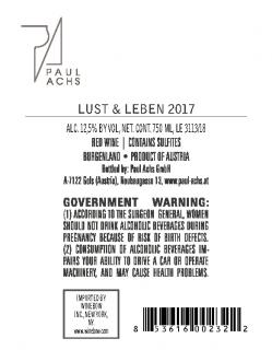 Paul Achs Lust & Leben Red Back Label