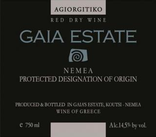 GAIA Estate Label