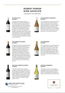 Vasse Felix Wine Advocate Acclaim Sheet - June 2019