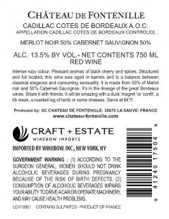 Cadillac Rouge Back Label