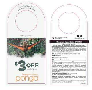 Ponga $3 off Wine MIR 2019
