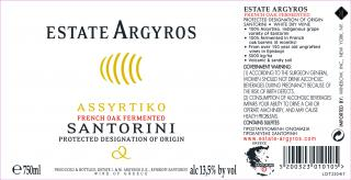 Assyrtiko French Oak Fermented Label