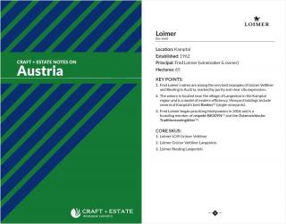 C+E Austria Notes Booklet - Digital Copy