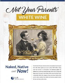 LLS Not Your Parents White Wine Tasting Talk Brochure