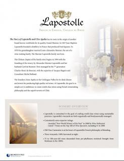 Lapostolle and Clos Apalta Family Sell Sheet