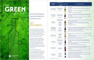 Green Tasting Talk Brochure