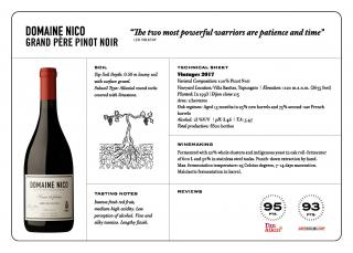 Domaine Nico Grand Pere 2017 Spec Sheet